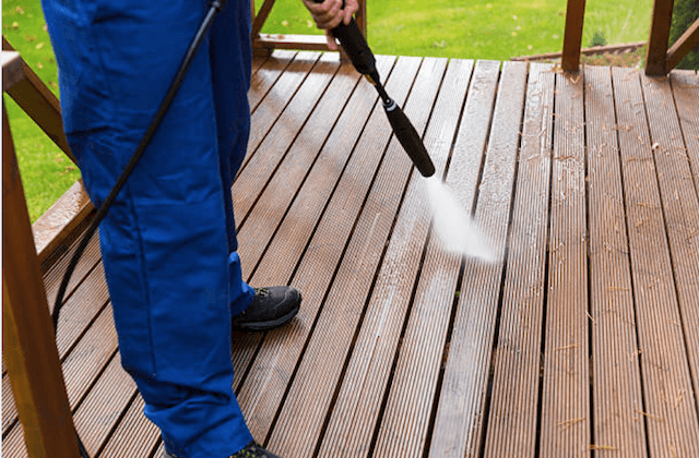 deck cleaning spring field