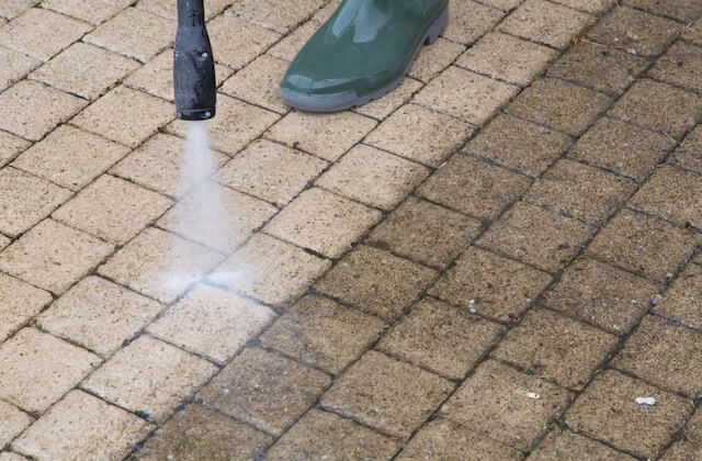 spring field patio cleaning